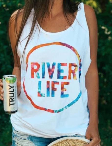 Pre-Order RIVER LIFE Print Tank Top