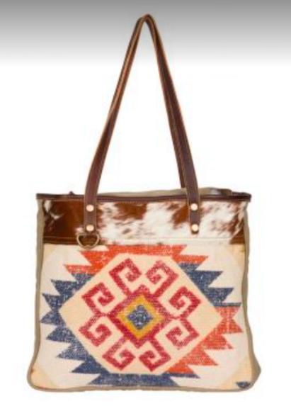 Myra- Painted Love tote bag