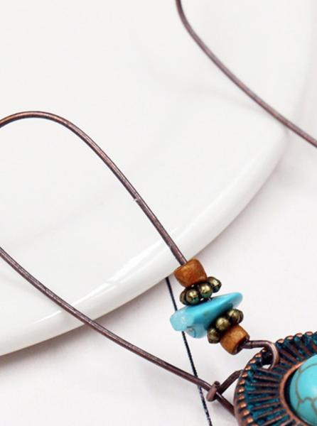 Pre-Order Retro Vintage Turquoise Dangle Earrings