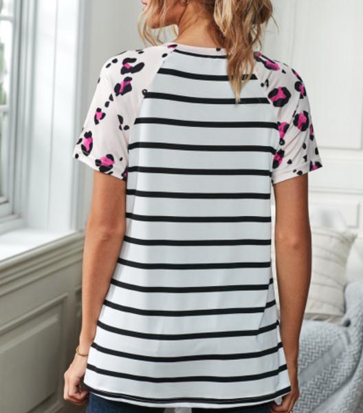 preorder Leopard Stripe Pocket T-shirt