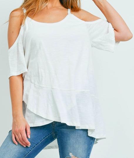 Ivory Off shoulder sleeves top