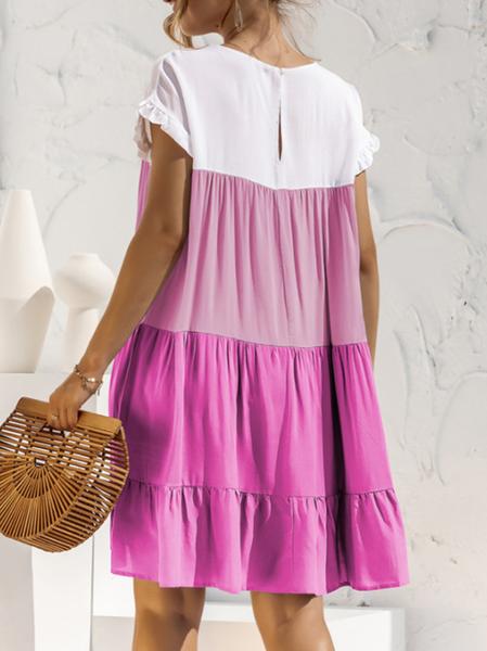 Pre-Order Color Block Boho Dress-