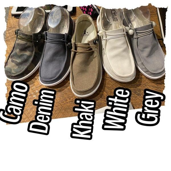 Corky Kayak Slip On Shoe- Denim
