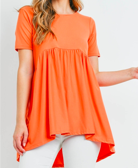 Ash Copper short sleeve with wait shirring top