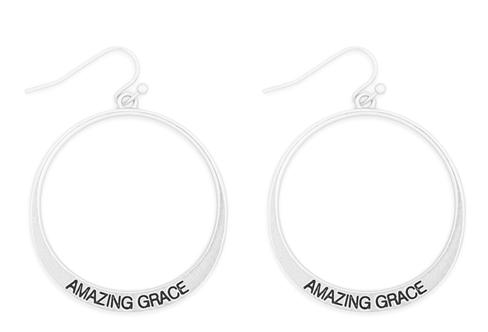Amazing Grace pinched hoop earrings