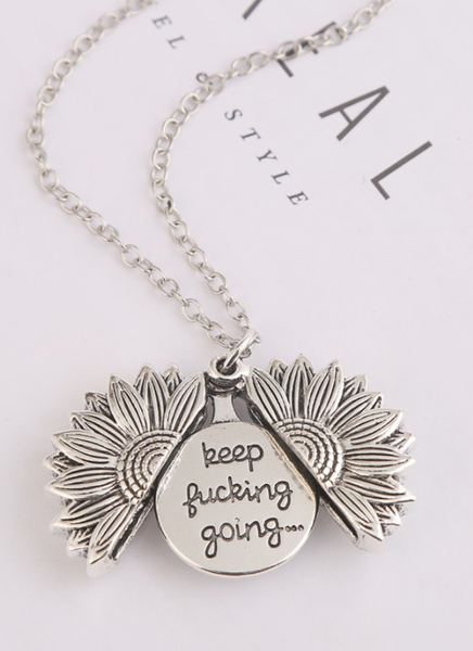 pre-order Sunflower Necklace Keep F***ing Going! Necklace