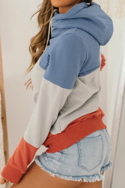 Pre-Order  blue Pullover Hoodie with Kangaroo Pocket