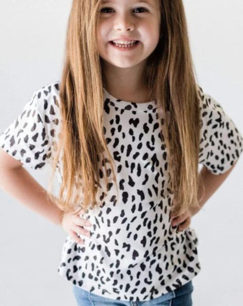 Pre-Order White Leopard Little Girls' Tee