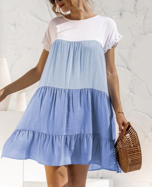 Pre_order Color Block Boho Dress