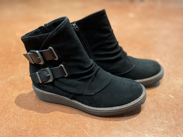 Blowfish black double strap boots