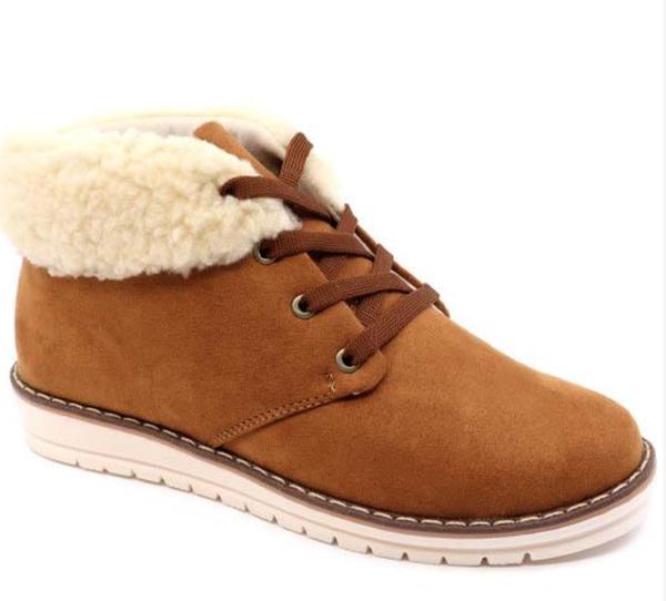 Brown Sherpa bootie