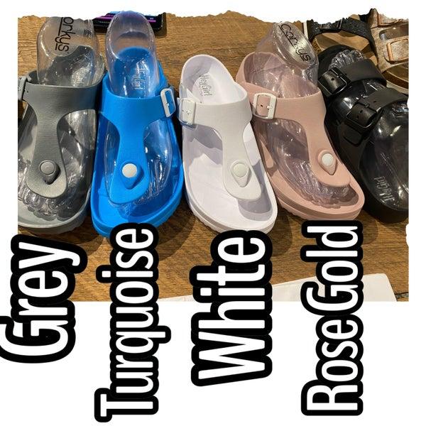 Corky Thong Sandals/Jetski-Grey
