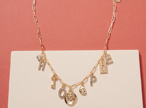 HOPE Chain Linked Short Necklace