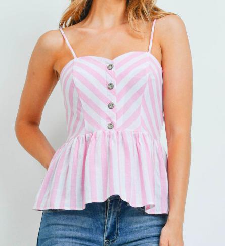 Ivroy pink stripes top