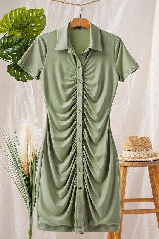 Olive You Shirt Dress