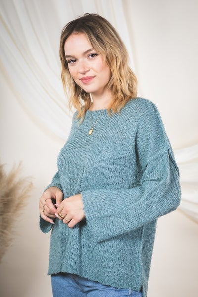So Sage Sweater