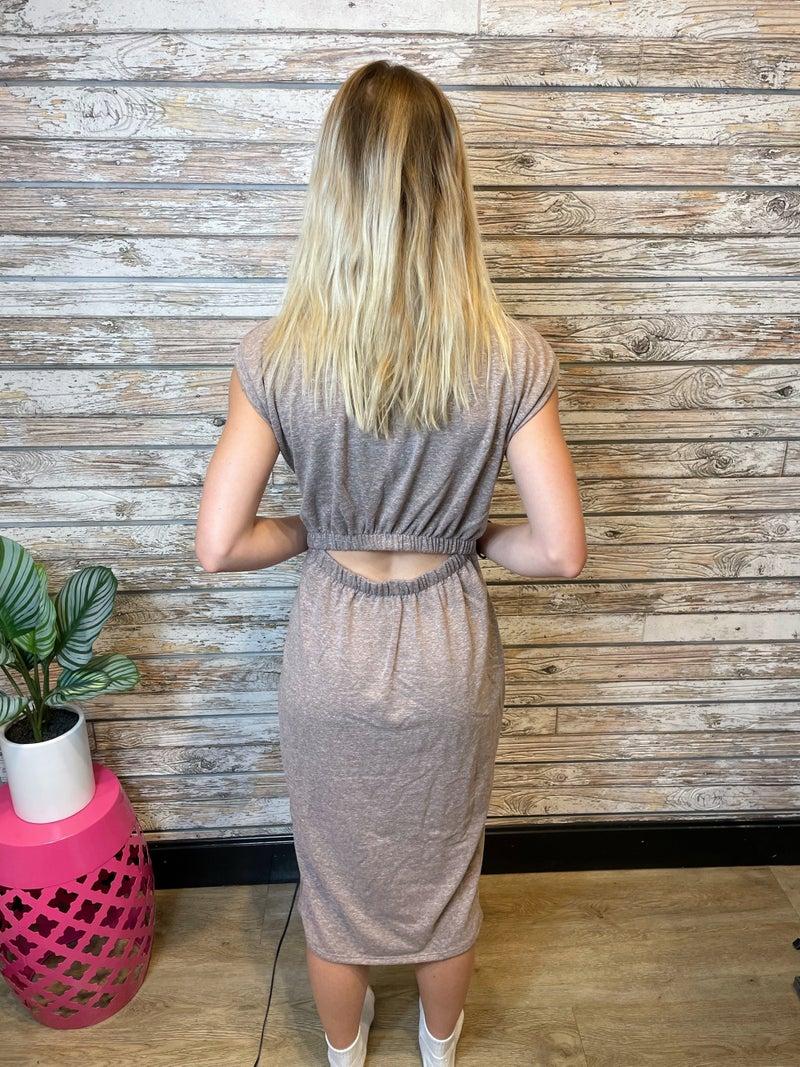 Cut Back Midi Dress