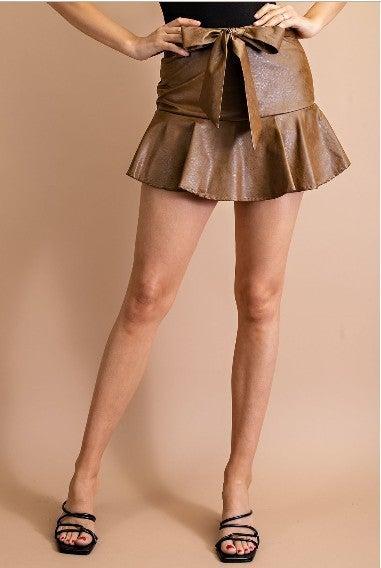 Lana Leather Skort