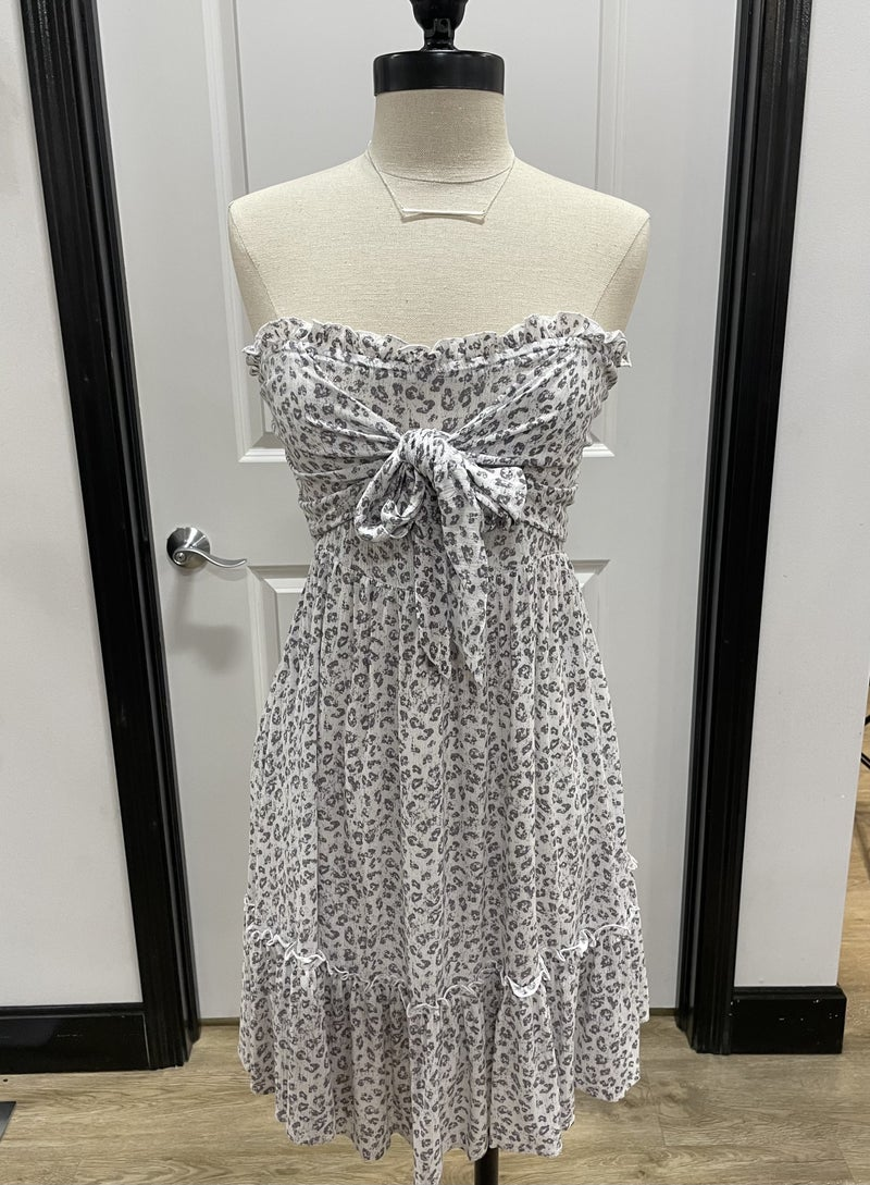 Animal Print Tube Dress *Final Sale*