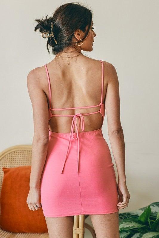 Britney Bare Back Bodycon Dress