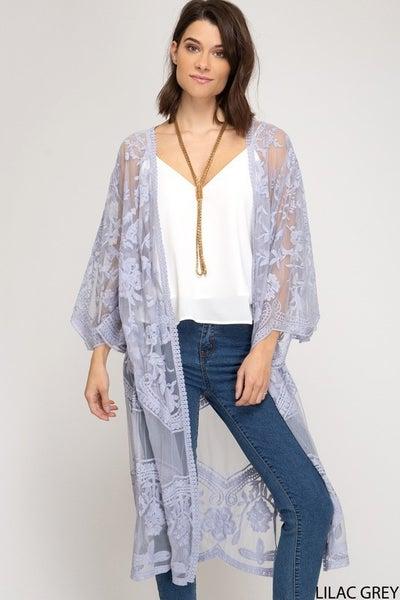Rosetta Lace Kimono
