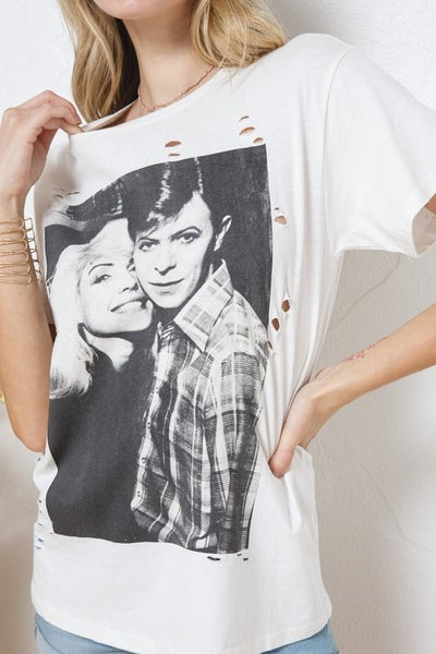 Bowie and Blondie Graphic Tee