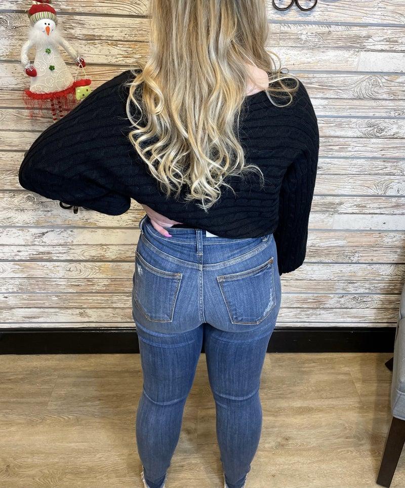 Faye High Rise Cropped Skinny Jean