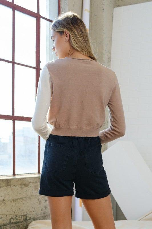 Diana Diagonal Sweater Top