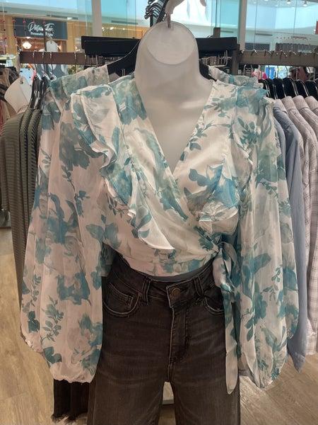 Sarasota Floral Wrap Top