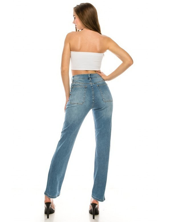 High Waisted Bootcut Jeans