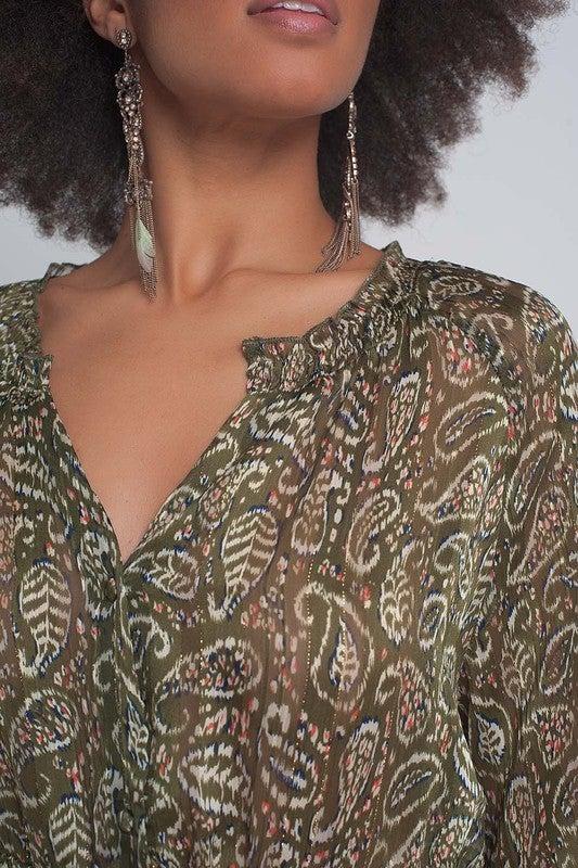 Paisley Smock Dress