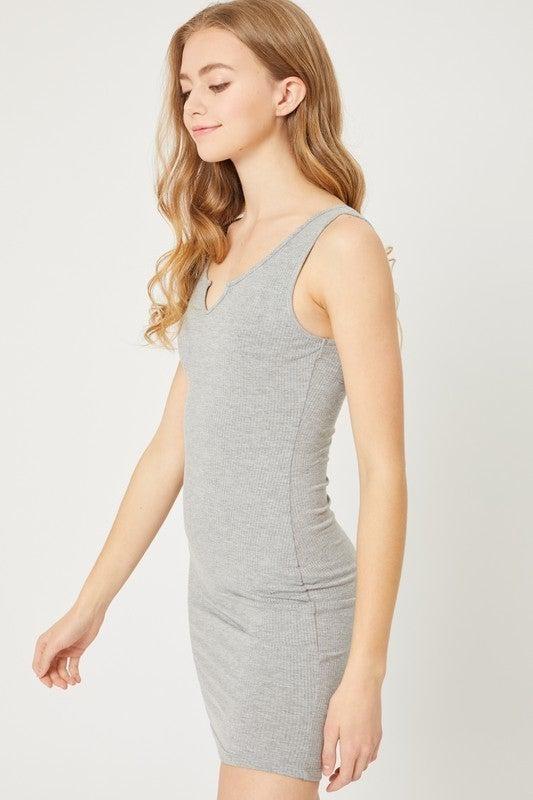 Rib Bodycon Dress