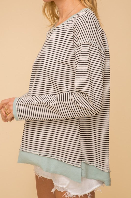 Kristen Hi-Low Pulllover Top