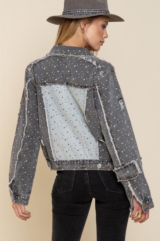 Starlight Black Denim Jacket
