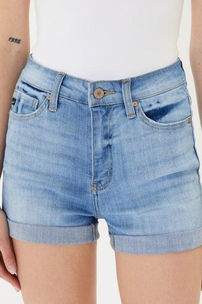 Daisy High Rise Denim Shorts