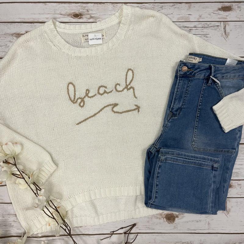 Beach Please Sweater Top