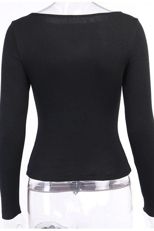 Cut Out Crew Neck Sweater *Final Sale*