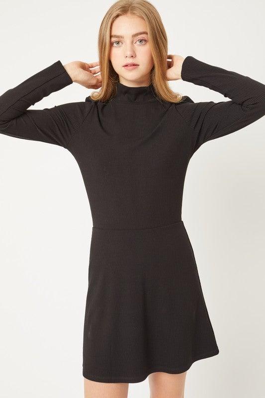 High Neck Skater Dress