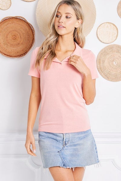 Cool And Collared Top *Final Sale*