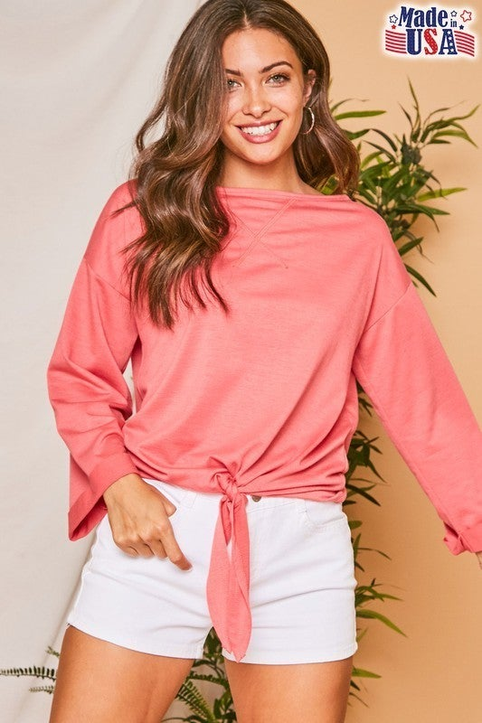 Vacation Mode Front Tie Top *Final Sale*