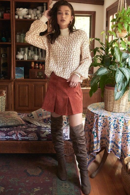 Corduroy Tennis Skirt