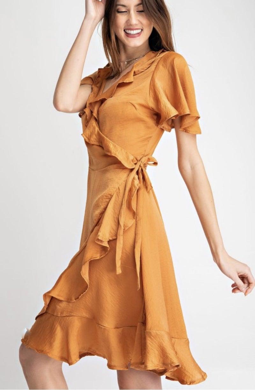Golden Girl Wrap Dress
