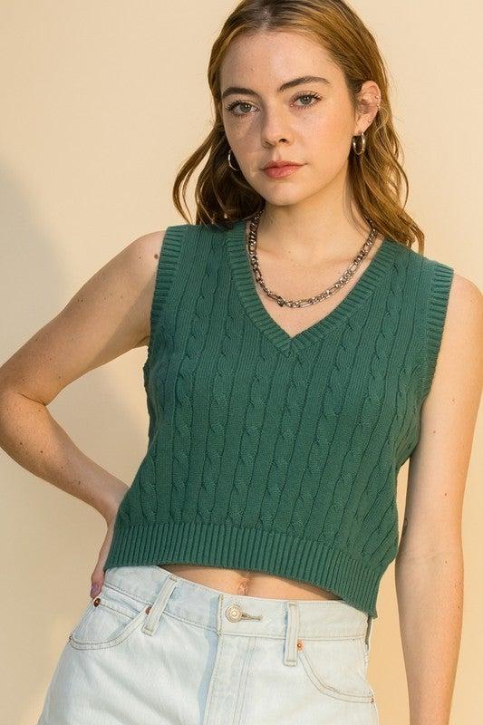 Crop Sweater Vest *Final Sale*