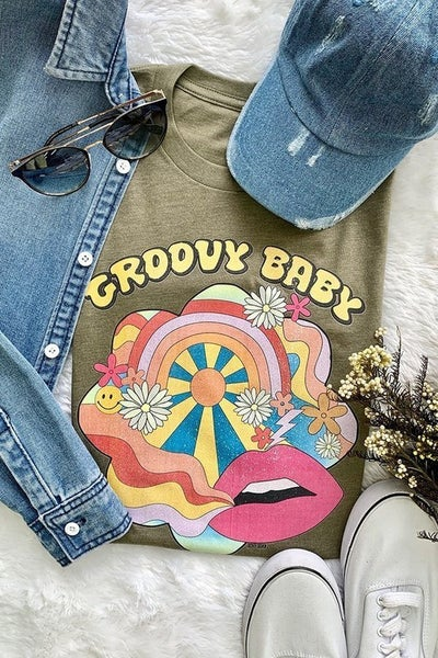 Groovy Baby Graphic Tee *Final Sale*