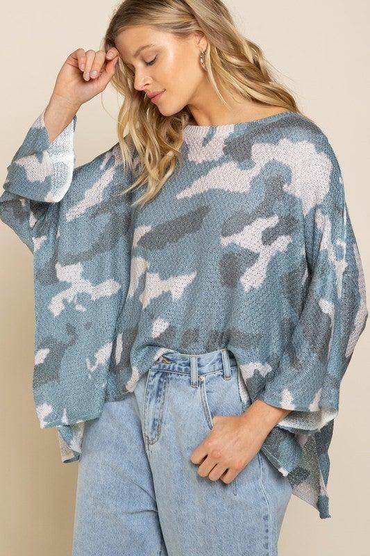Make Way For Camo Sweater *Final Sale*
