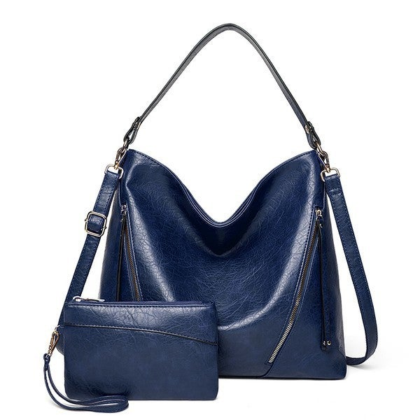 Oakly 2pc Handbag Purse Shoulder Bag