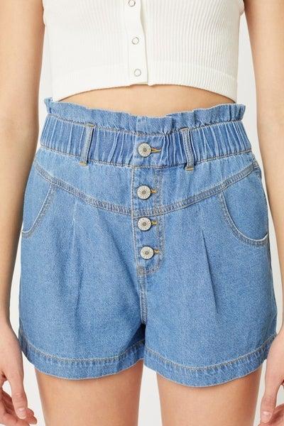 Buttons Please Denim Shorts