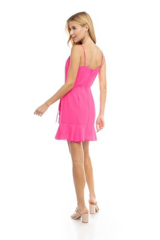 Pretty In Pink Wrap Dress *Final Sale*