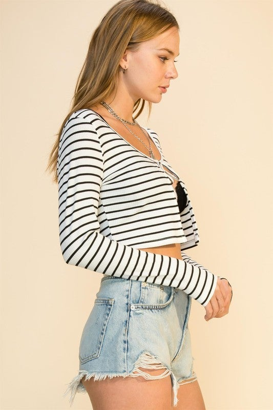 Tied Up Cropped Cardi *Final Sale*