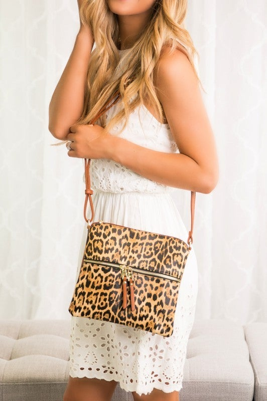 Finley Leopard Crossbody Handbag Purse Bag
